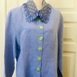 "Vintage "" Taylor G"", Dallas Silk, Chambray Tunic"